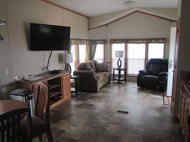 Campground hotel living area